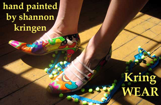 Wearable art by shannon kringen kring wear hand painted shoes and hats